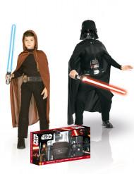 Pack disfraces Jedi + Dark Vador niño Star Wars™ caja