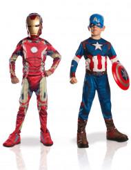 Pack disfraces niño Iron Man + Capitán América Los Vengadores 2™ Caja