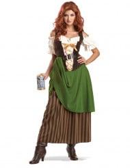 Disfraz bávara mujer marrón