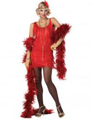 Disfraz Charlestón rojo mujer