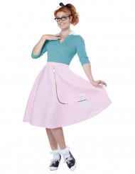 Disfraz años 50 mujer rosa
