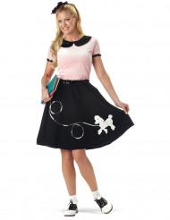 Disfraz años 50 negro para mujer