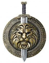 Escudo y espada de combate gladiador