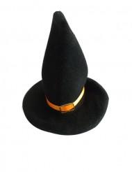 2 decoraciones sombreros de bruja pequeños cinta naranja
