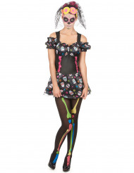 Disfraz Día de los muertos calavera colores mujer