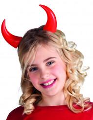 Cuernos rojos niño Halloween