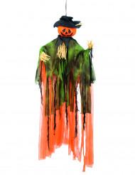 Decoración colgante calabaza espantapájaros 1 m Halloween