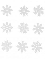 9 Copos de nieve Navidad ventana