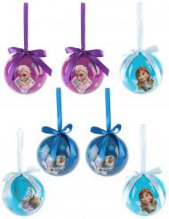 7 Bolas Frozen™ 7,5 cm Navidad