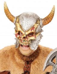 Máscara integral esqueleto vikingo adulto Halloween