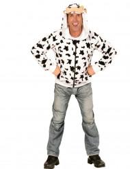 Chaqueta con capucha vaca adlto
