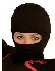 Pasamontañas ninja negro niño