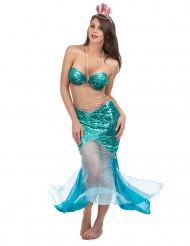 Disfraz de sirena del mar sexy mujer