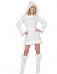 Disfraz de esquimal blanco sexy mujer