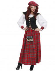 Disfraz escocesa vestido largo mujer
