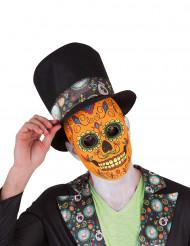 Máscara hombre Día de los Muertos Deluxe Halloween