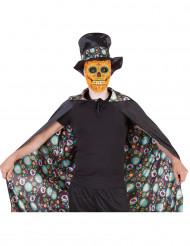 Capa reversible Día de los Muertos Halloween adulto