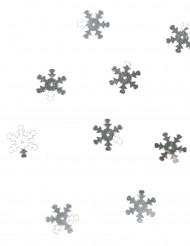 Confetis mesa copos de nieve plateados 10 g