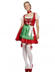 Disfraz bávara camarera rojo mujer