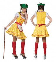 Disfraz de tirolesa amarillo mujer