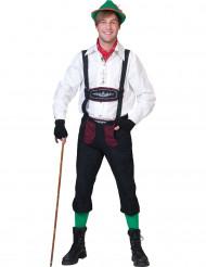 Disfraz bávaro negro y burdeos hombre