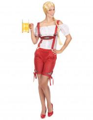 Disfraz tirolesa pantalón rojo mujer
