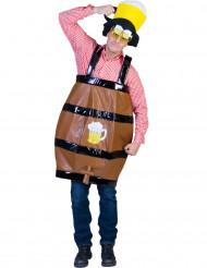 Disfraz barril de cerveza humorístico adulto