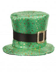 Sombrero de copa San Patricio trébol dorado adulto