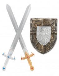 Kit escudo 2 espadas gladiador niño