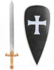 Kit escudo medeval y espada niño