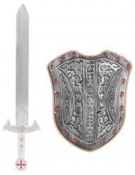 Kit escudo y espada caballero para niño