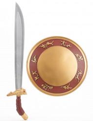 Kit escudo y espada gladiador niño