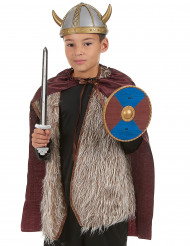 Kit Vikingo - espada escudo y capa niño