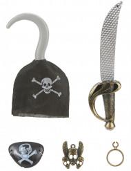 Kit de pirata Sable garfio insignia parche pendiente Niño