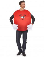 Disfraz chocolatina roja adulto
