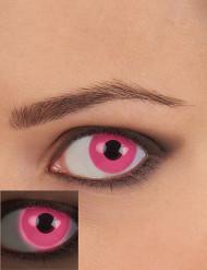 Lentillas de contacto UV rosa adulto