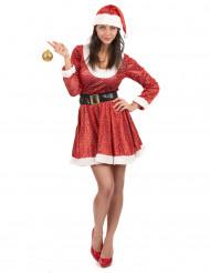Disfraz Mamá Noel brillantes mujer