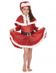 Disfraz Mamá Noel brillantes niña