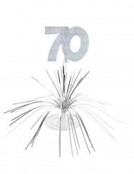 Centro de mesa 70 años