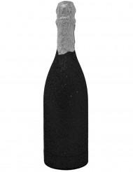 Cañón confetis botella negra brillante