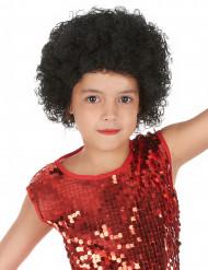 Peluca afro niño negra