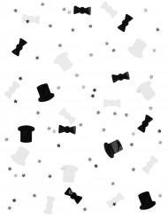 Confetis blanco y negro