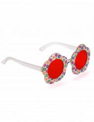 Gafas Hippie flor adulto