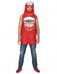 Disfraz ketchup adulto