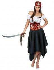 Disfraz pirata del océano mujer