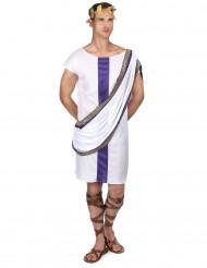 Disfraz romano hombre blanco y violeta