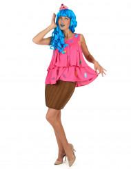 Disfraz cupcake rosa mujer