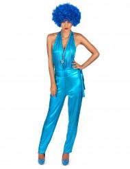 Disfraz traje disco azul