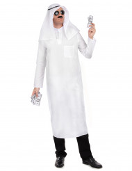 Disfraz jeque árabe blanco hombre