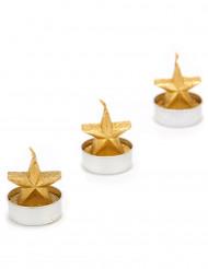 velas estrella oro